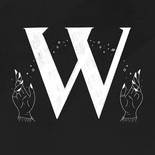 witchy W for @36daysoftype 🌙✨ . . #36daysoftype #36days_W #100dayproject #witchy