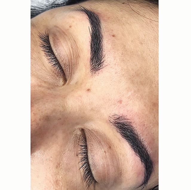 ⚡️Annual touch up⚡️ check out this beauty! @warhorsetattoo #sarahrevisbrows #berkeley #permanentmakeup #microblading