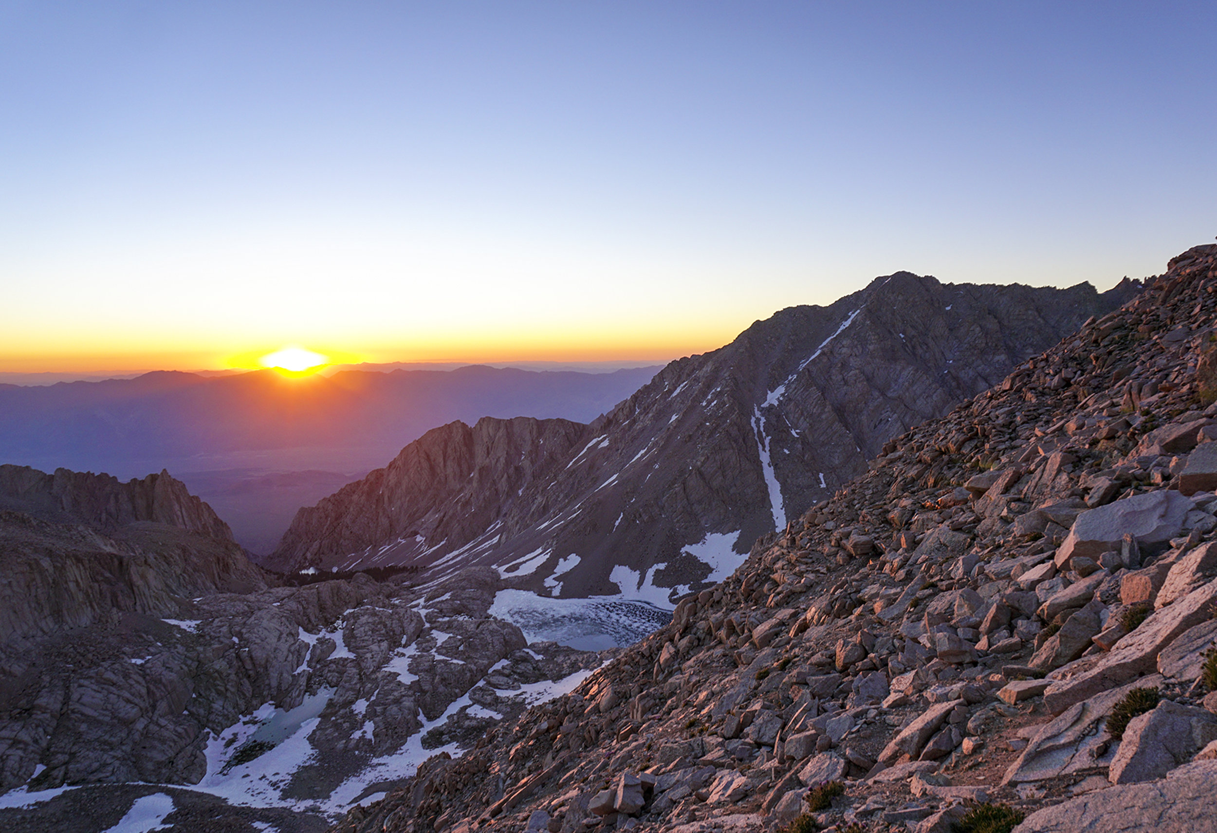 Sunrise from the 99 switchbacks