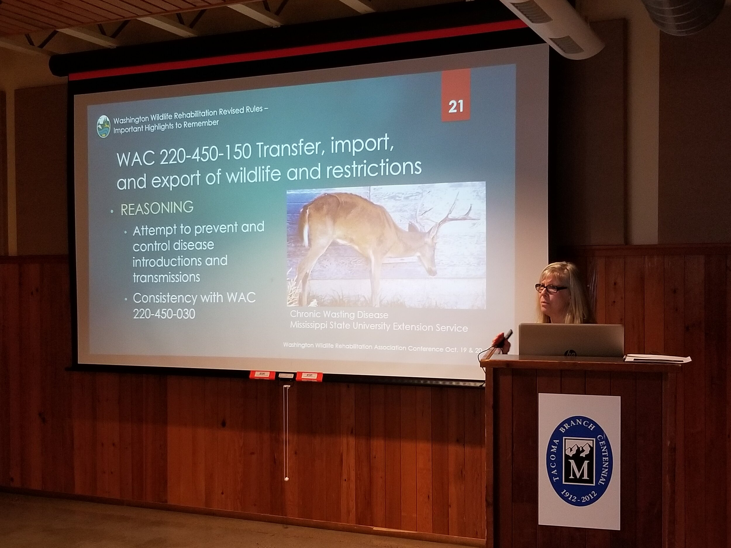 Patricia Thompson discussing Chronic Wasting Disease (CWD)