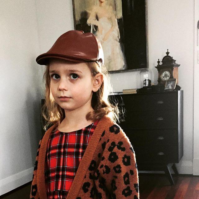 """Too Cool For Skool"" Newsboy Cap. Click link in bio to shop now.  #winteraccessories #girlswinterfashion #kidswinterfashion #kidshats"