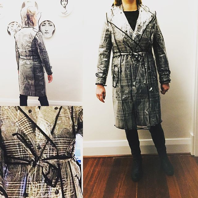 """Our """"I See Through You"""" Trench is the accessory of the season! Made of vinyl with Black detailing, this sheer raincoat trench protects your clothing in these wetter months whilst also preserving your fashion moment. On sale now!!! Click link in bio to shop now  #rainfashion #womenswinterfashion #raincoat #winteraccessories #winteroutfit"""
