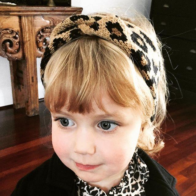 """Leopard Print Cross Headband"". Click link in bio to shop now  #girlswinterfashion #winteraccessories #headbands #girlsaccessories"