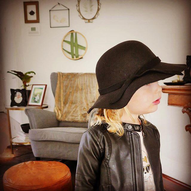"""""""Floppy"""" Felt Hat. See link in bio to shop now  #winteraccessories #winterfashion #girlswinterfashion #kidsfashionaccessories #girlsfashionaccessories #toddlerfashion #kidshats #kidswinterfashion #littlegirlstyles"""