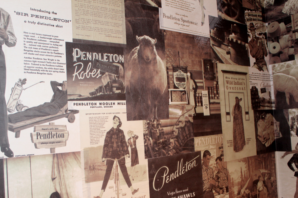 HAND-MADE WALLPAPER CREATED FROM VINTAGE ADS AND OTHER TREASURES FOUND IN THE ARCHIVES
