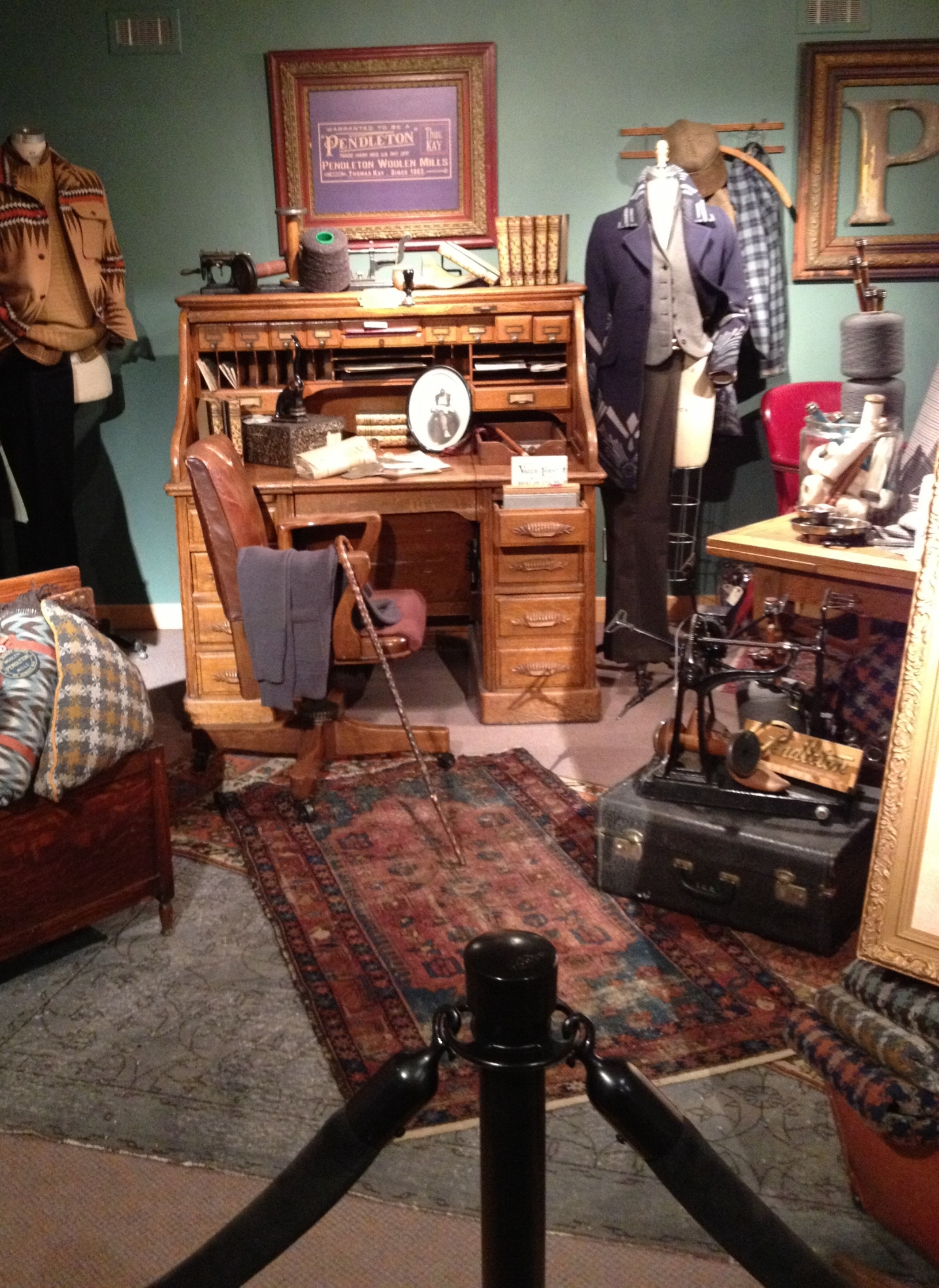 THE ESSENCE OF A ONCE BUSINESS OWNER/CLOTHING DESIGNER'S OFFICE BROUGHT TO LIFE