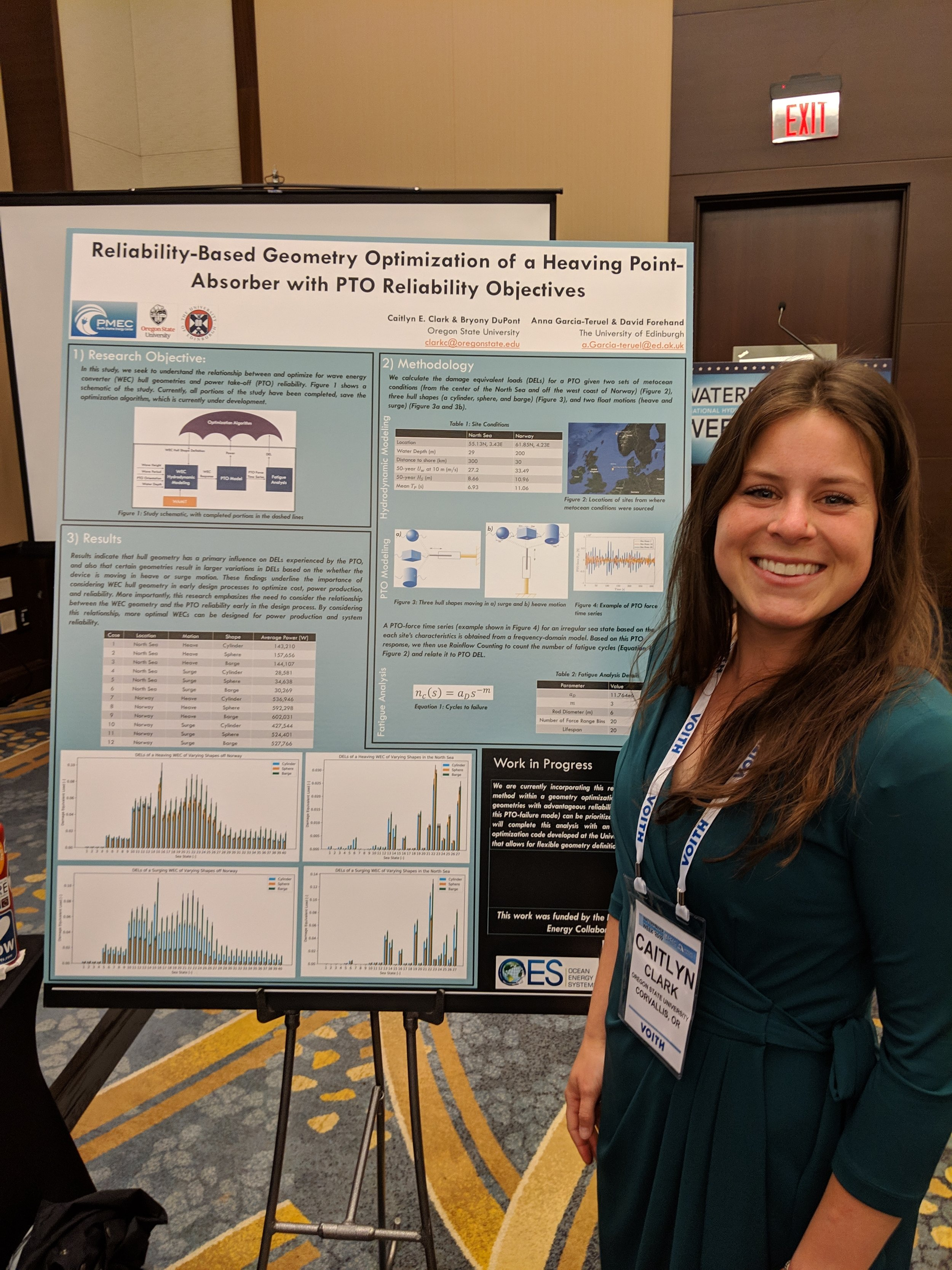 Caitlyn Clark presents her work at METS poster session