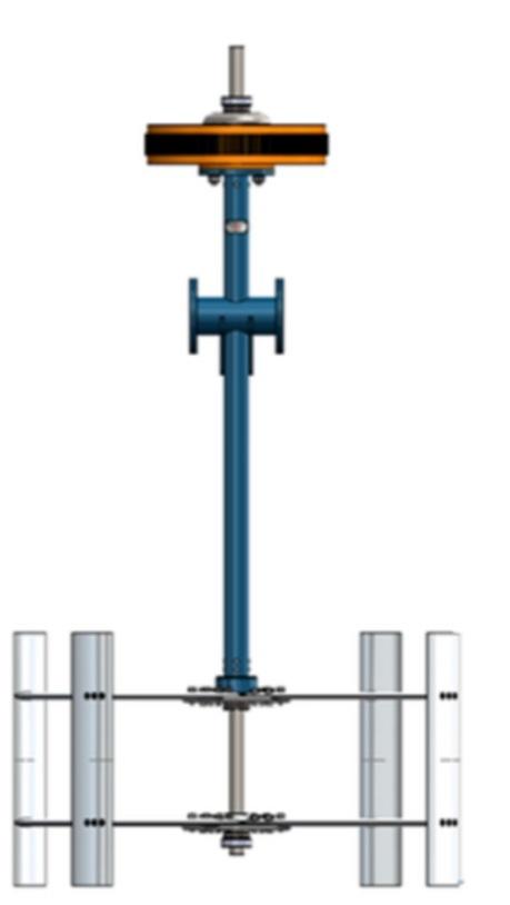Computer rendering of hydrokinetic turbine