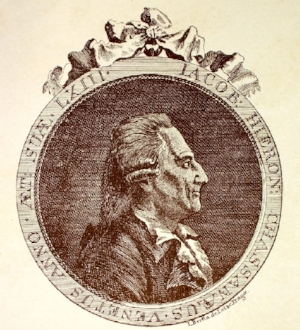 Casanova in 1788.Engraving by Johan Berka.