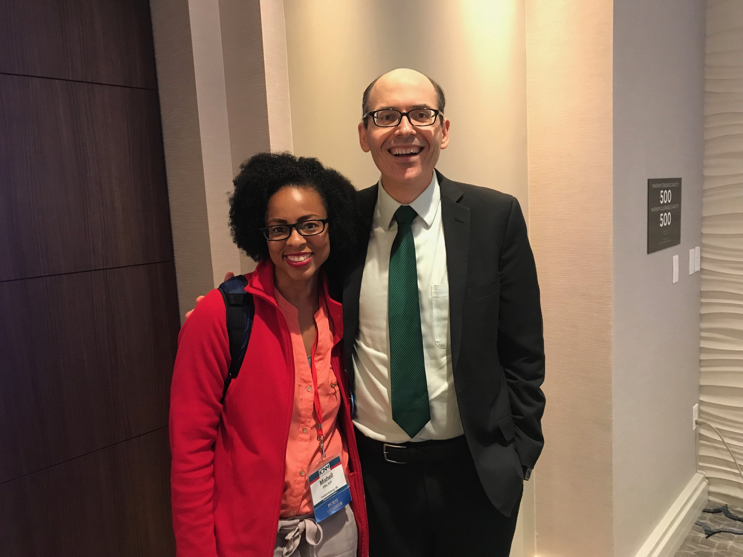 Dr. Greger and I at the 2018 International Conference on Nutrition in Medicine in Washington, D.C. I could not wait to tell him that his work was the reason for my 45 pound weight loss and how adopting a plant based diet changed my life for the better.