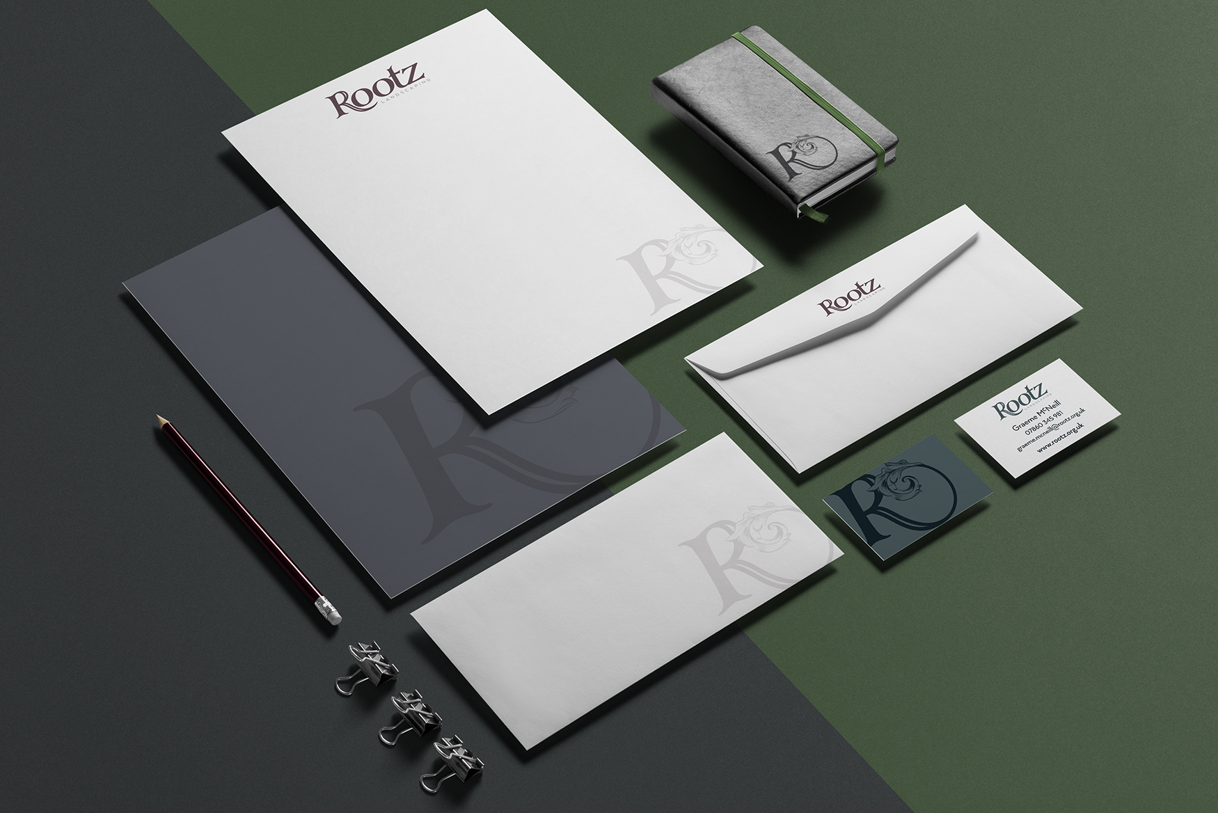 ROOTZ LANDSCAPING LTD - LOGO DESIGN + STATIONERY