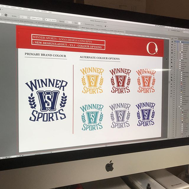 It's all about the colour people…all about the colour!! New logo design for sports apparel client.  The logo and multiple colour options will be used across all types of apparel…t-shirts, sweats, hoodies, tote bags and loads more.  Website next!! #winnersports #logodesign #design #branding #winner #sports #colours #identity #apparel #bold #brandidentity #customdesign #graphicdesign #logo #icon #designstudio #businesslogo #illustrator #electricdesignstudio #professionallogo #startup #graphics #tshirtgraphic