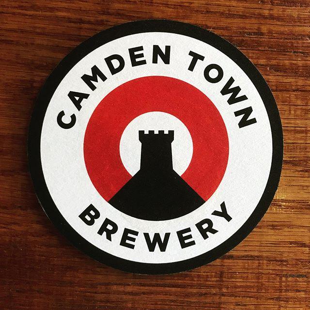 Lovely bit of branding by @camdentownbrewery #beermat #design #camdenbrewery #beer #minimal #sansserif #branding #camden #castle #classic #electricdesignstudio #drinkaware #london #camdentown