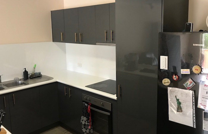Experts in 2 Pack Application  - Minor touch-ups with expert colour-matching  - Complete panel re-surfacing in a dedicated spray booth, if required  - Mobile painting on site for cabinets, countertops and splashbacks that are fixed  - FREE colour consultation service to suit your needs