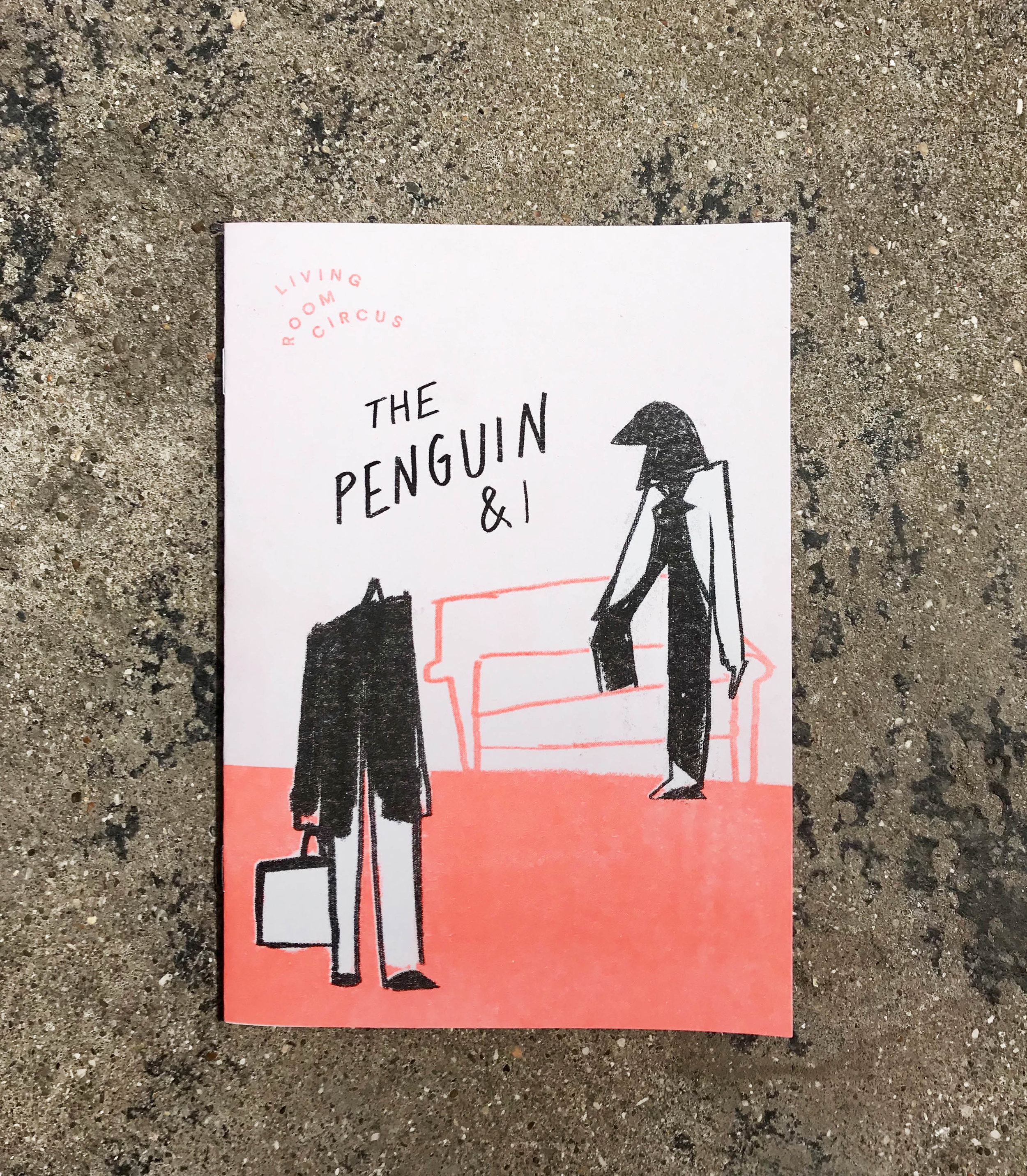Living Room Circus Programme - I created an eight-page programme that had to be as absurd as The Penguin & I show. Interactive bingo? Check. Recipe for Penguin Punch? Check. Penguin walking into a sofa? Check. The programme was printed as a two-colour riso print with Assembly Press.