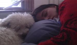 Sara and piper sleeping