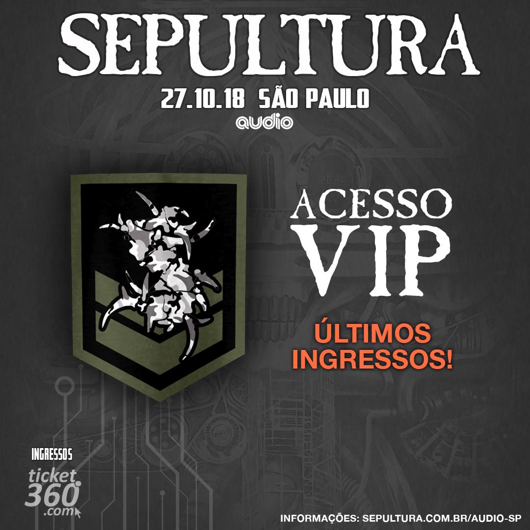 VIP para SP dia 27/10