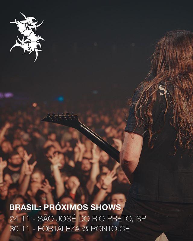 São José do Rio Preto e Fortaleza! Nos vemos em Novembro 🤘 Últimos shows da tour Machine Messiah. Até lá! Link na bio para compra de ingressos. #sepultura #machinemessiah 📷 @marcella_bc