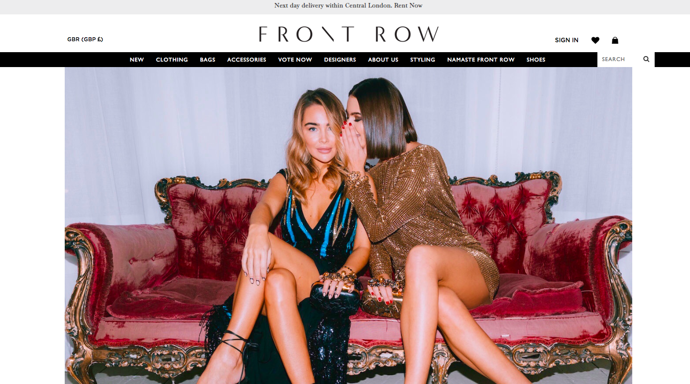 front-row-clothes-rental-uk