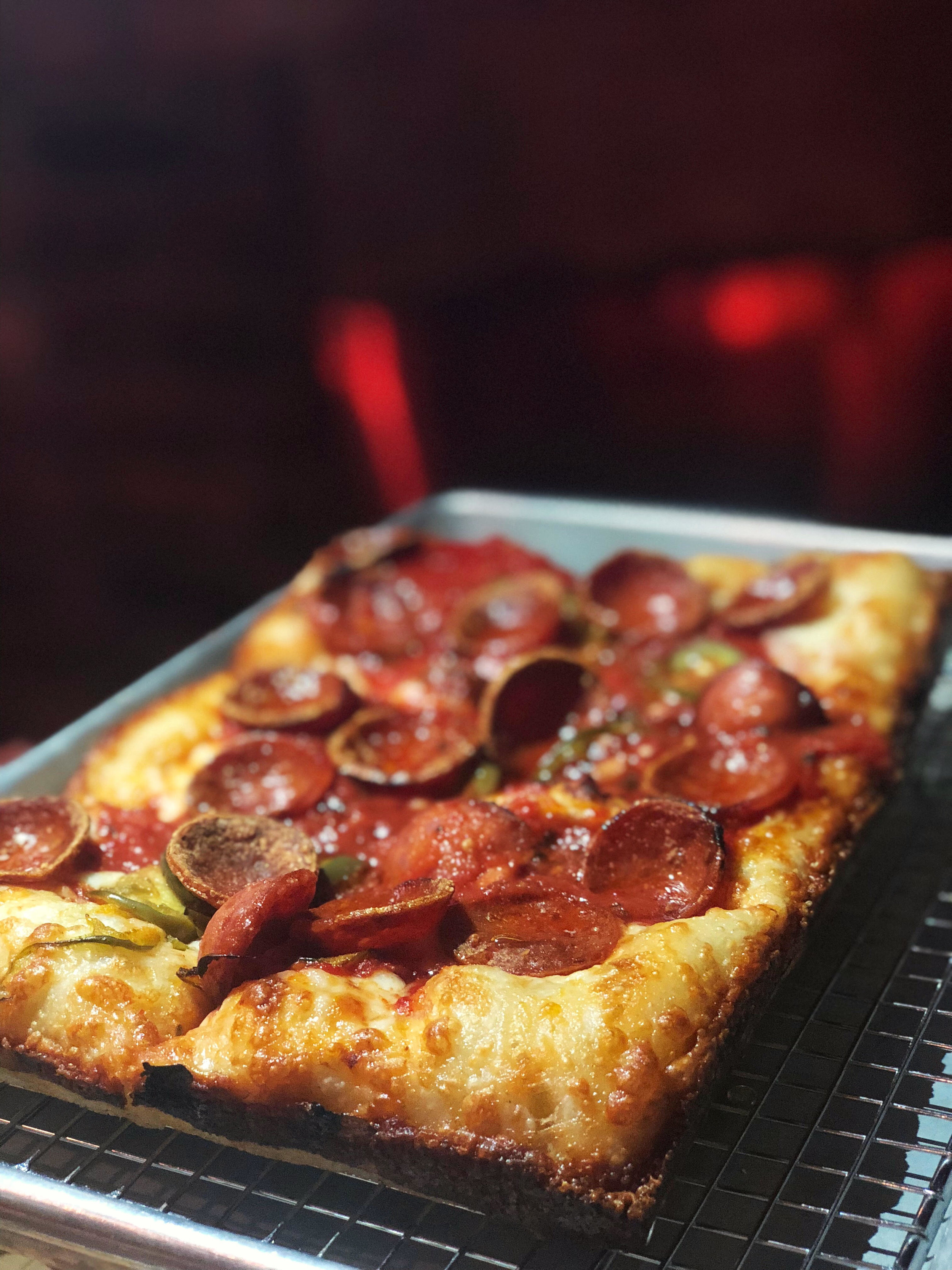 The Colony: pepperoni, pickled chili, honey