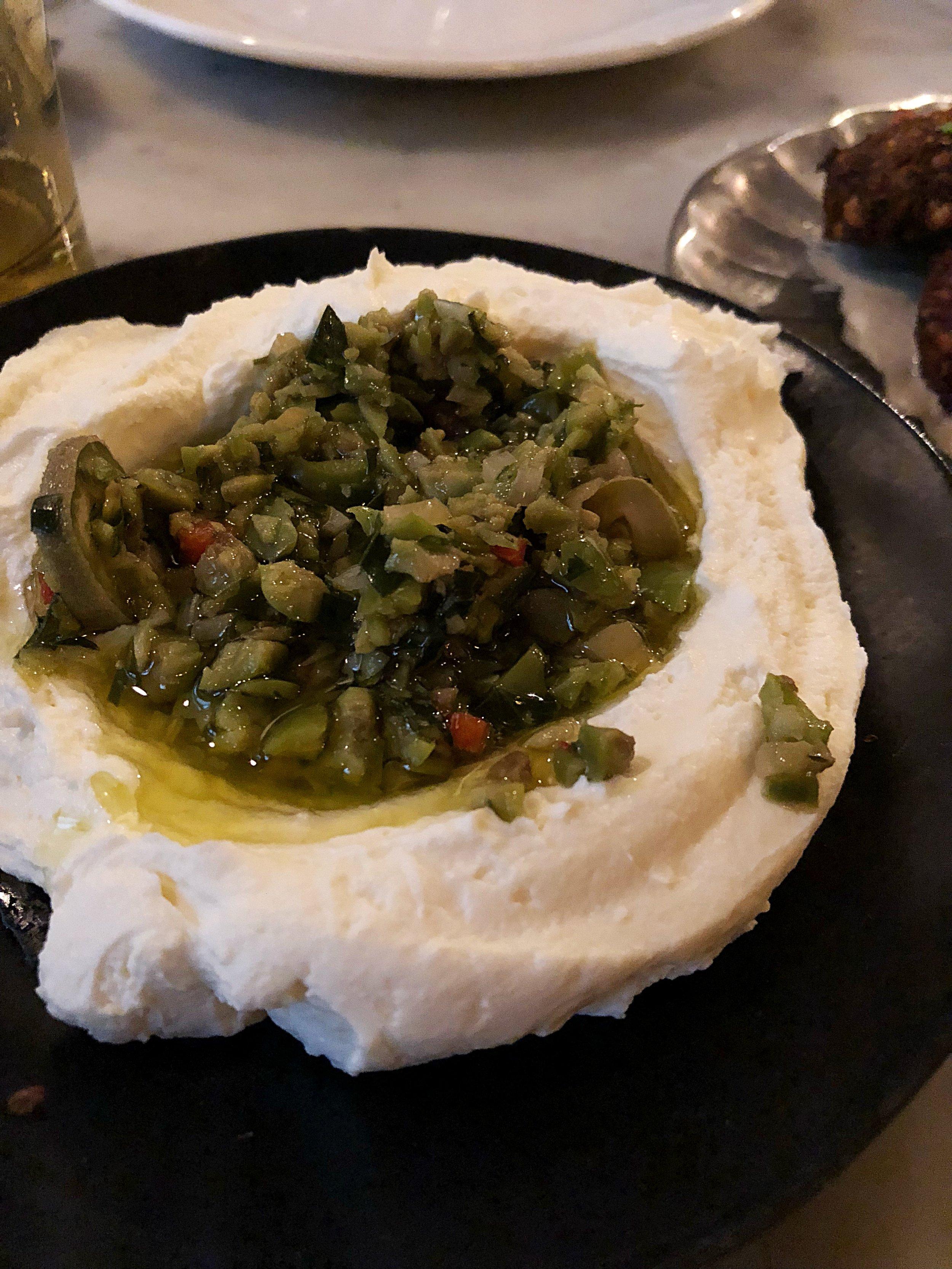 Pistachio + feta dip