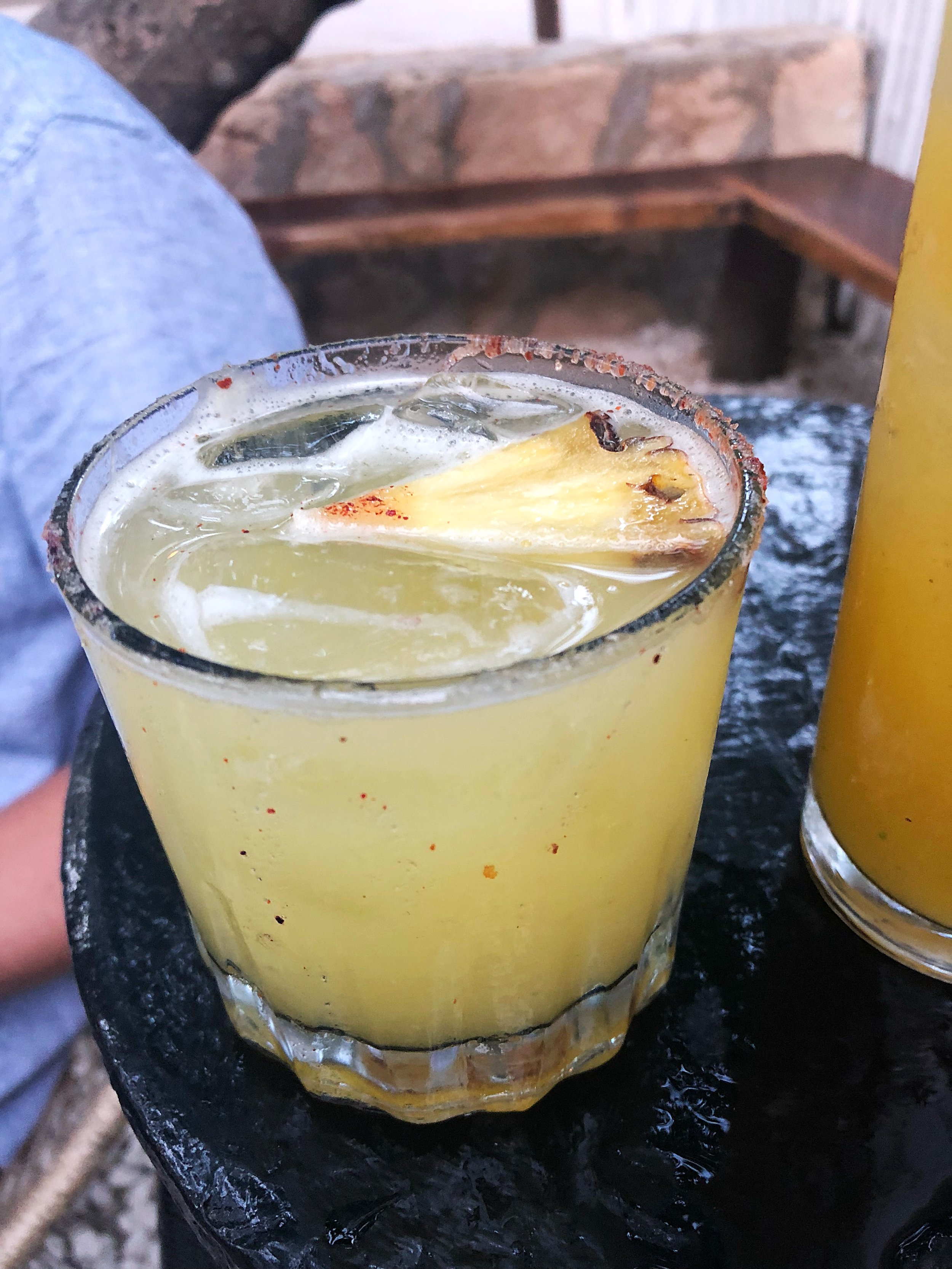 Margarita with grilled pineapple and habanero
