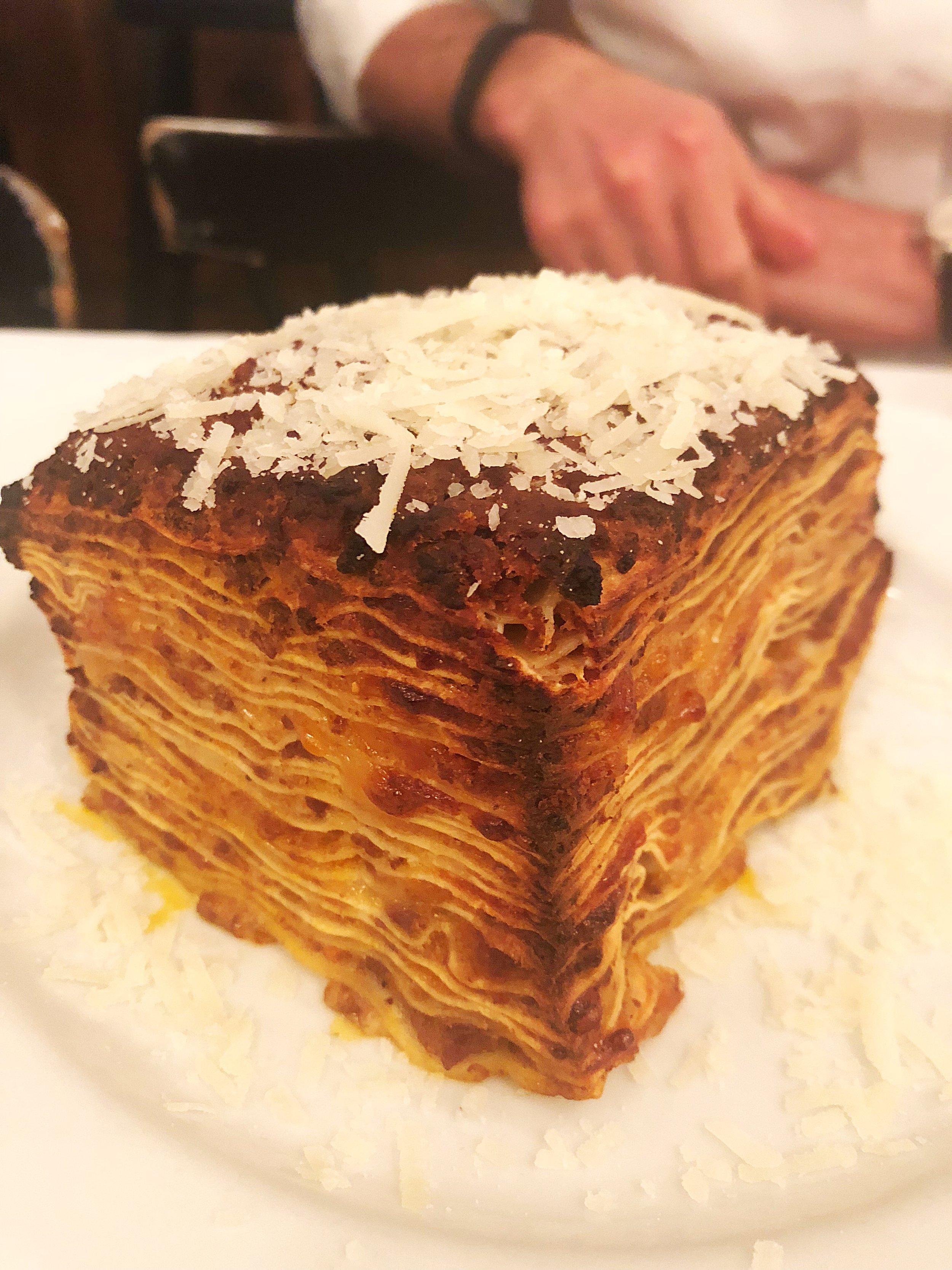 House made lasagna