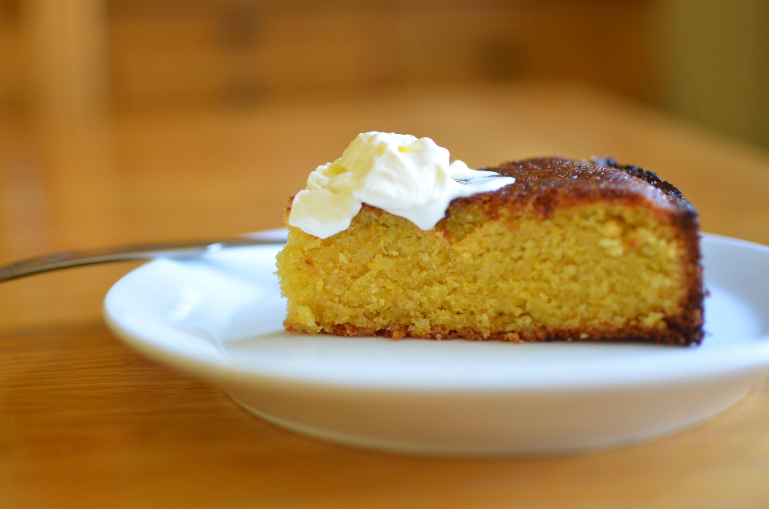 Jamie' Oliver's Orange Polenta Cake - see below for link to the recipe