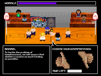 Community Bored   Migration and Displacement Exhibition - Parsons School of Design - 2017  Collaborator on the winning team for a short online game designed to demonstrate to players the difficulties faced by interpreters during community board meetings in East Harlem, New York.