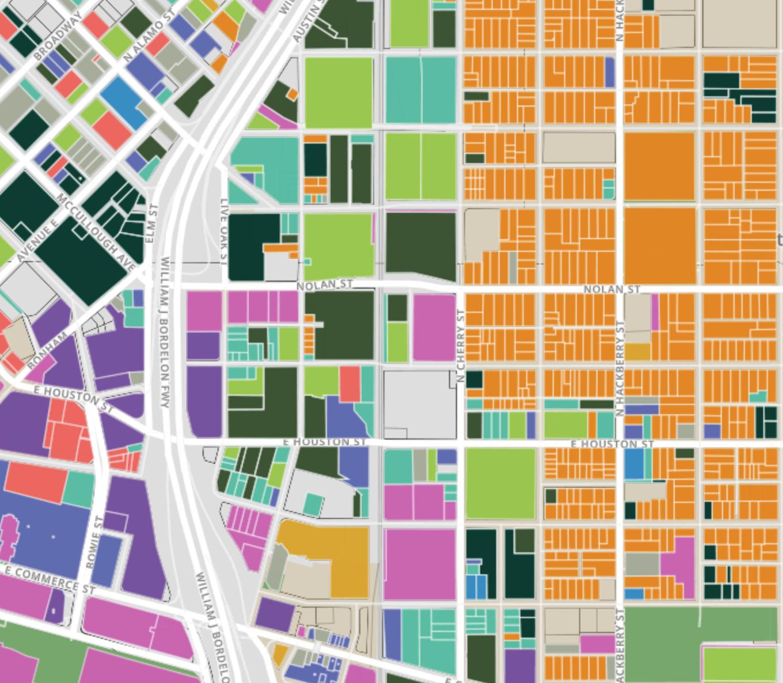 Explore San Antonio's Land Use  Web Map Development Lab - Parsons School of Design 2017  Website designed to reveal land use designations and neighborhood characteristics through an interactive and engaging platform