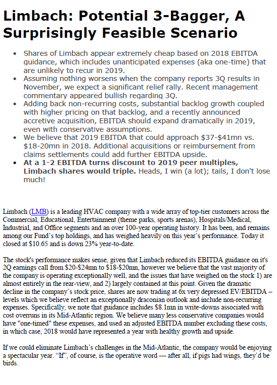 Limbach Analysis 9/28/18
