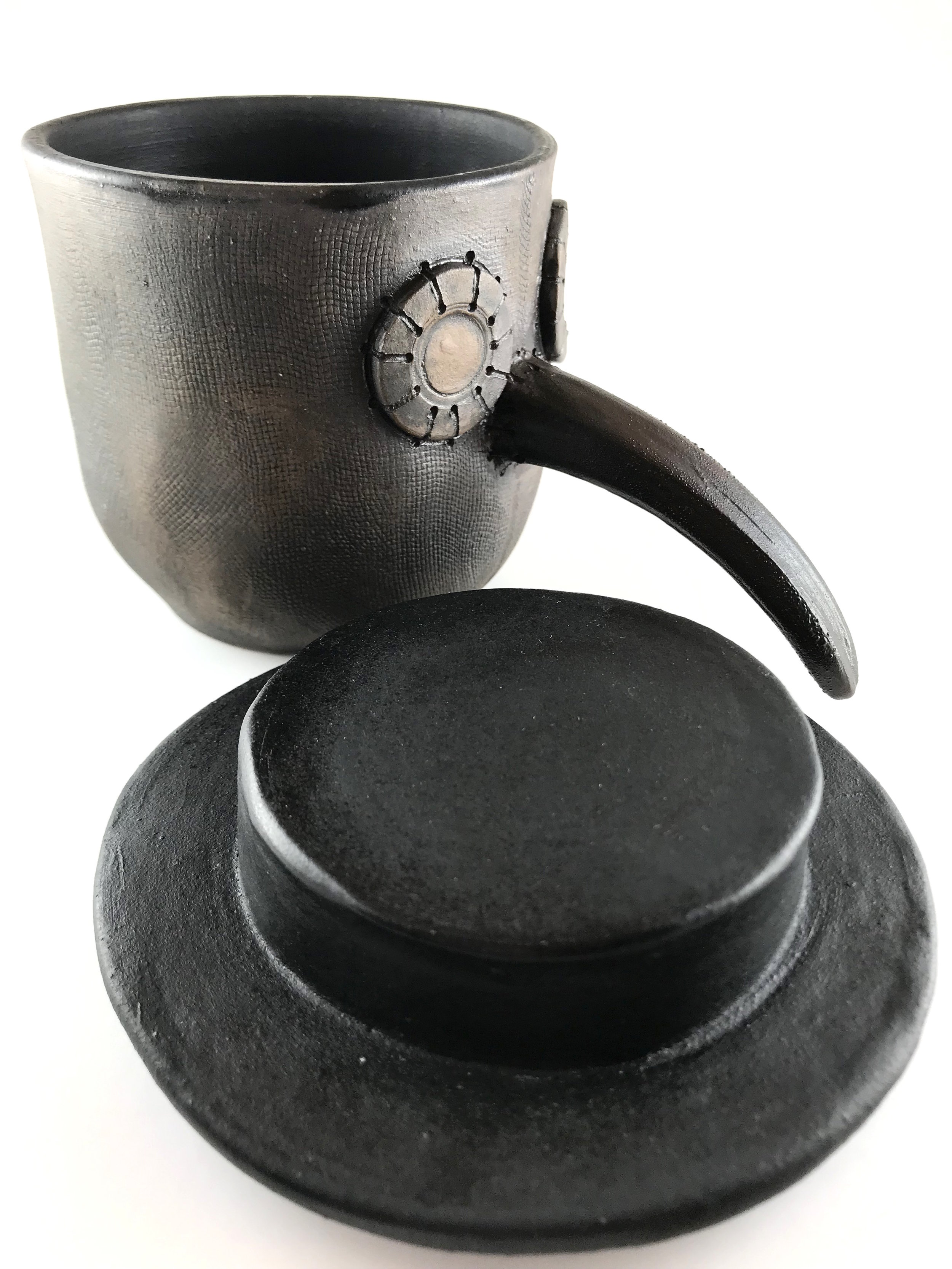 Plague Doctor Mug With Hat Brown Clay Cabinet Of Curious Clay