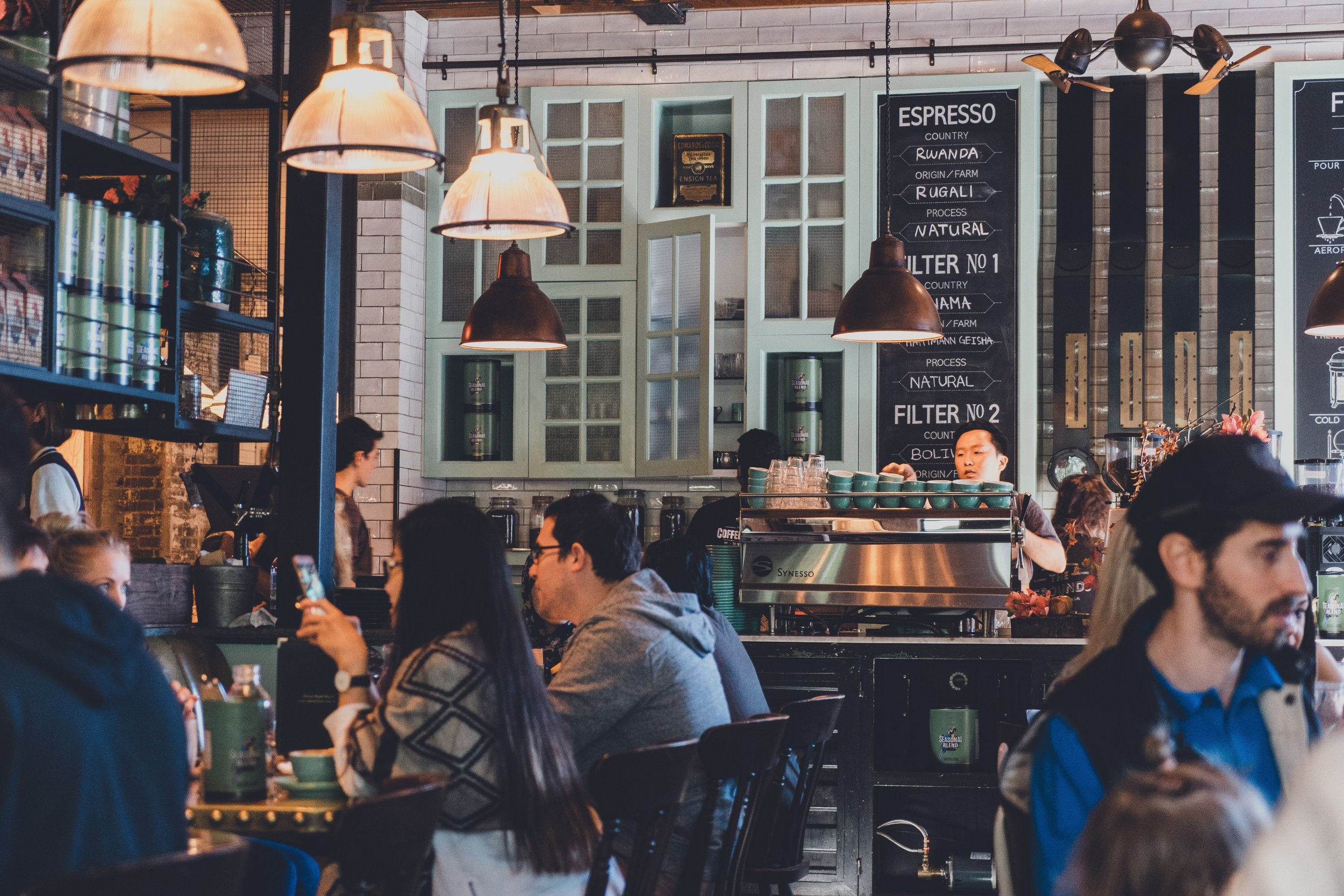 A restaurant, like any other business, needs both copywriting and content writing. Photo by  Rod Long  on  Unsplash