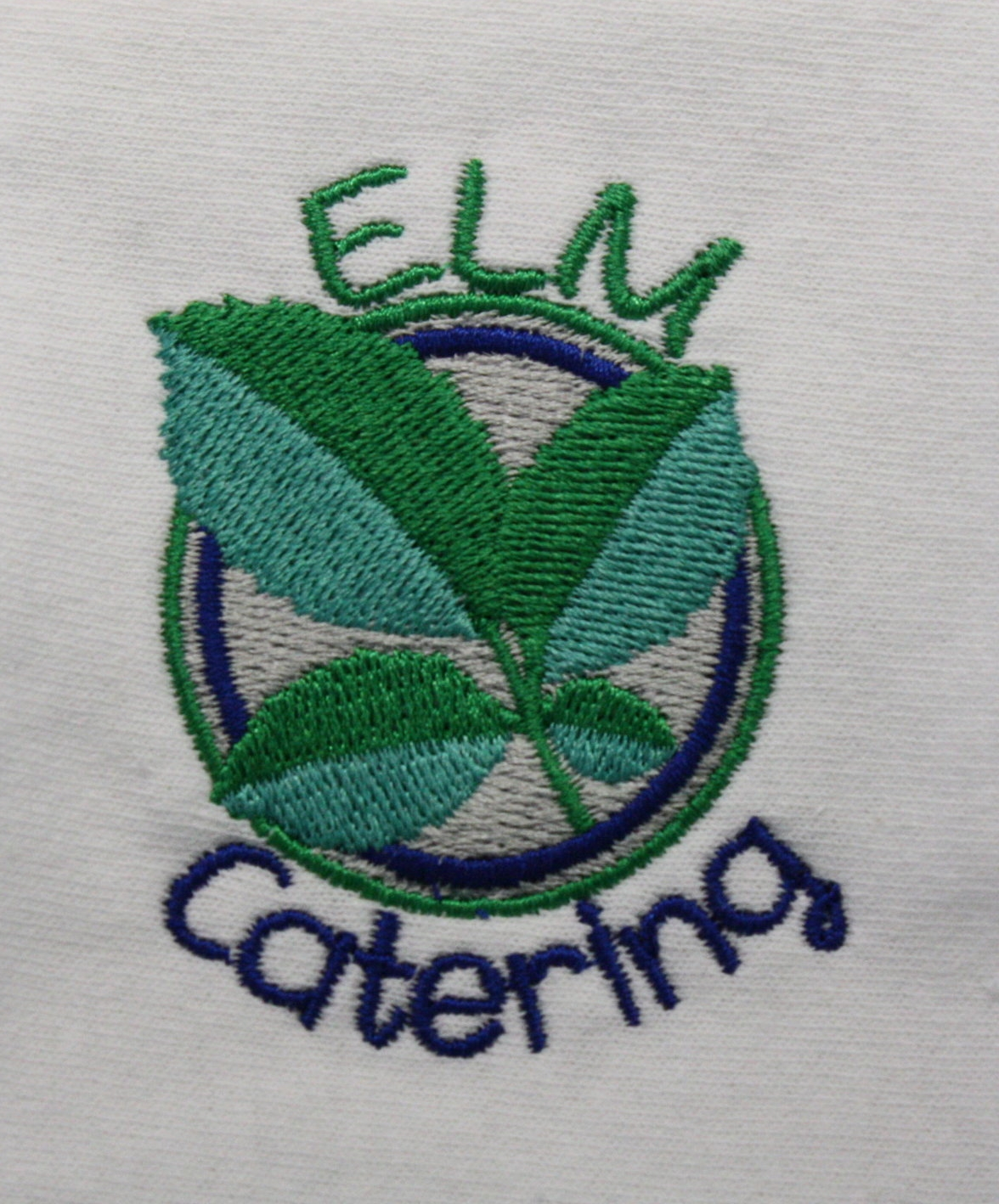 Elegant five-color logo for our neighbors at Elm Catering.
