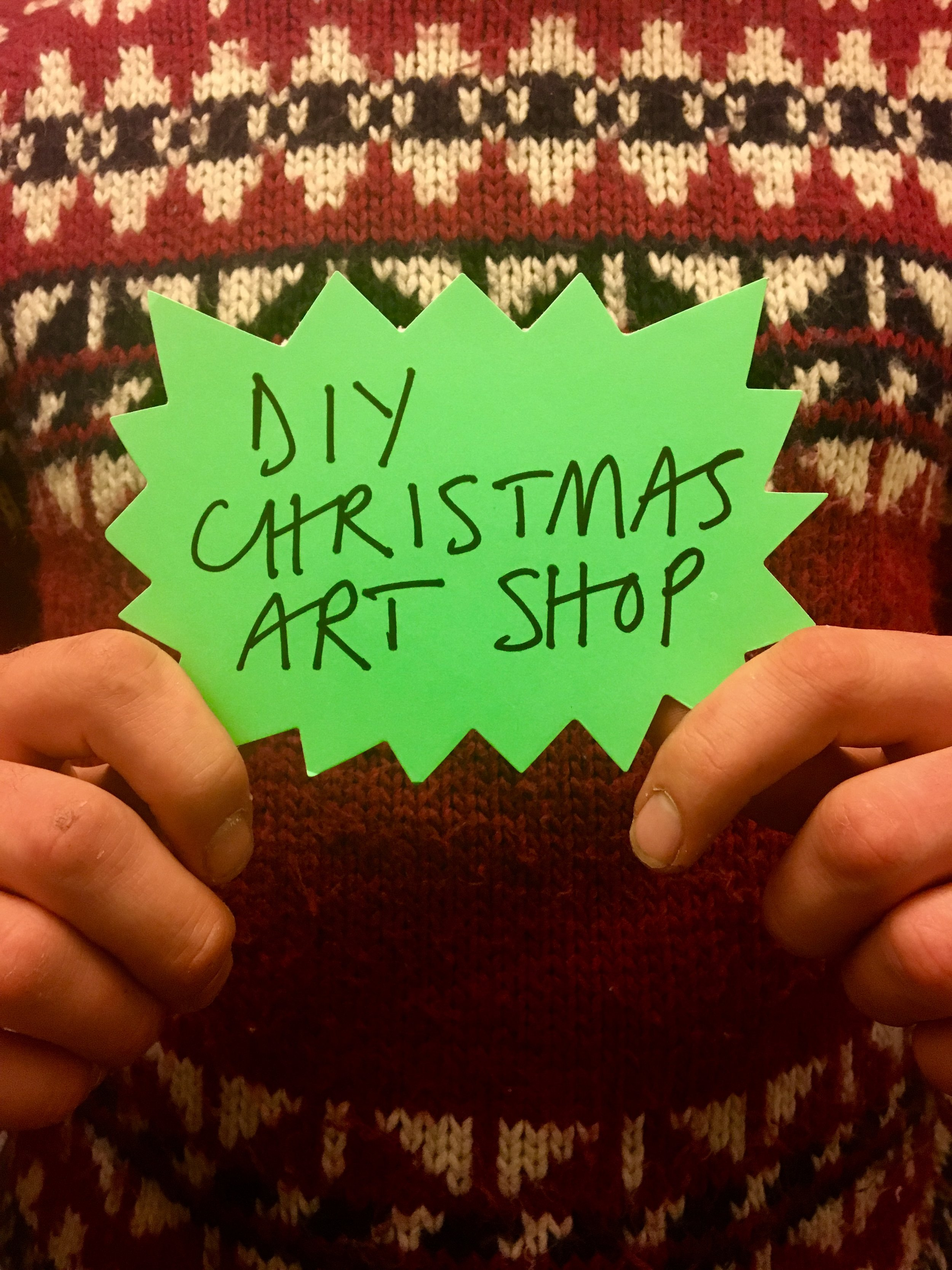 7th Dec 6pm :  DIY Christmas Art Shop