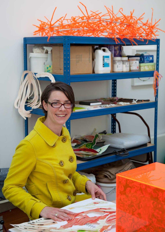 Aimee Lax, SVA studio artist, photo Nigel Noyes
