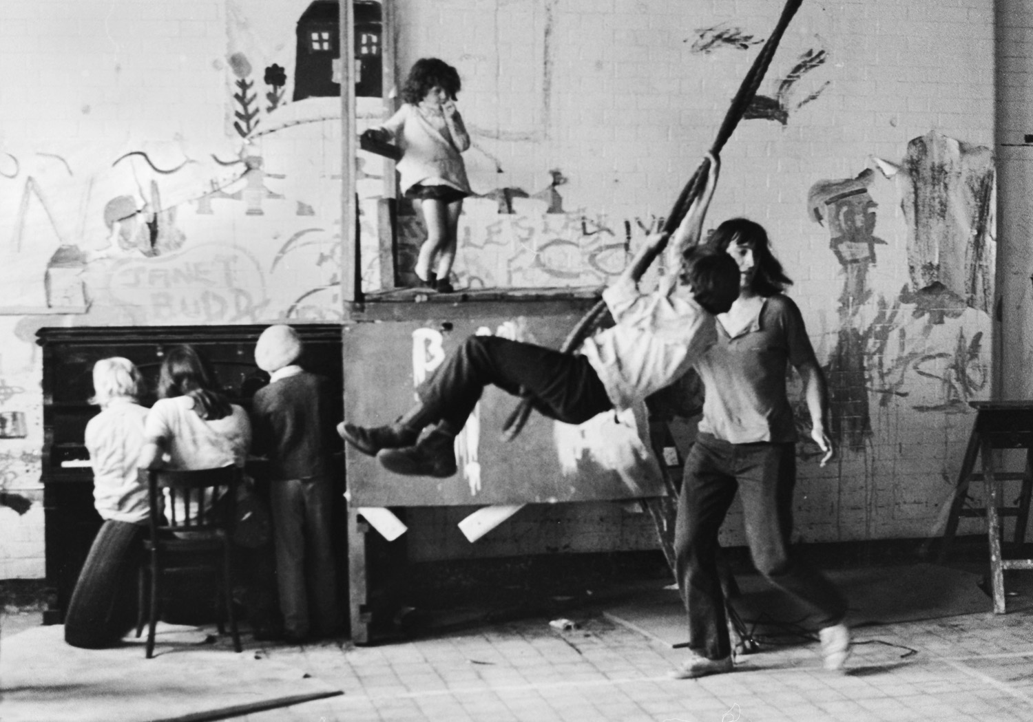 Kids Summer School In Disused Fire Station 1971