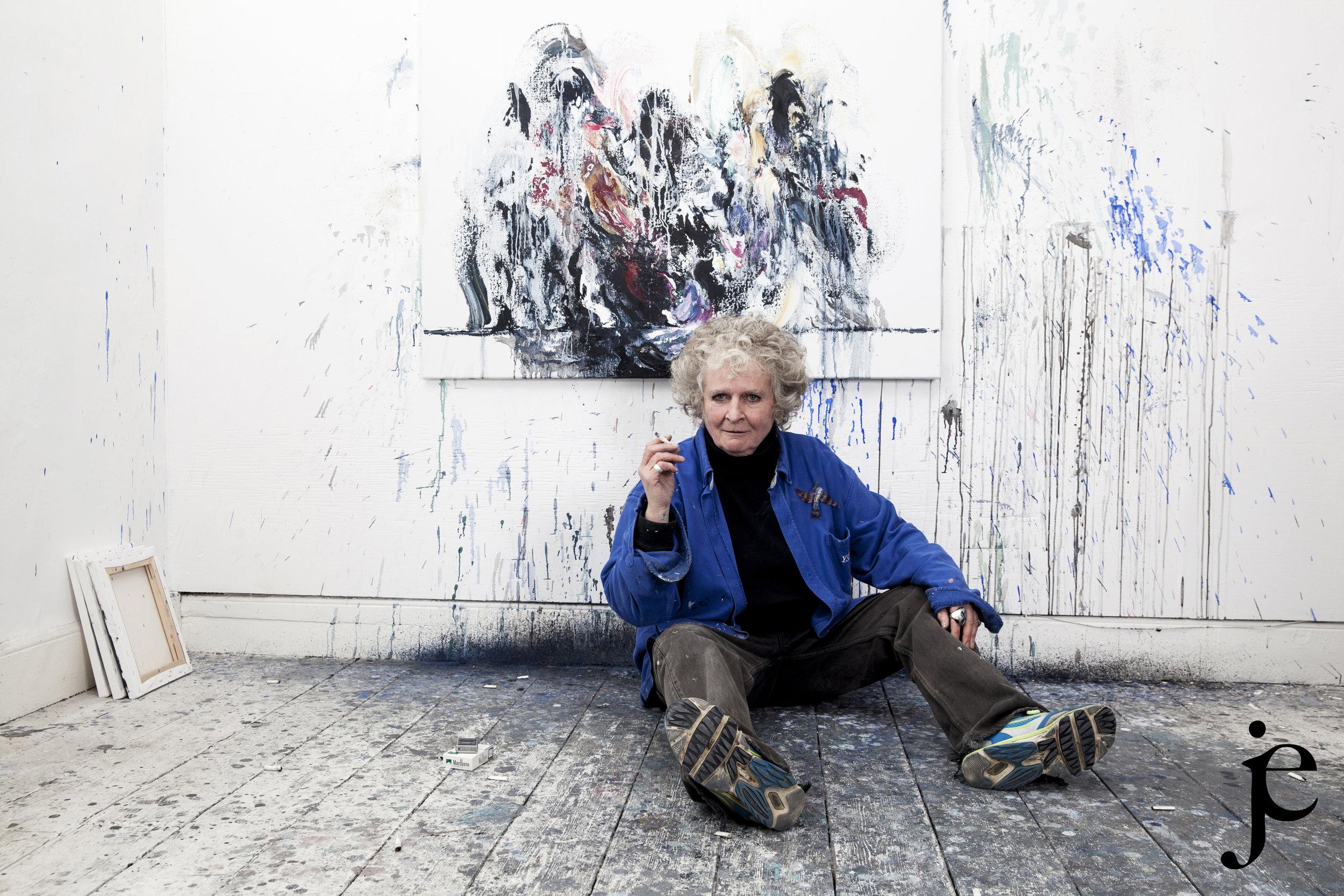 British painter Maggi Hambling, London, 2014