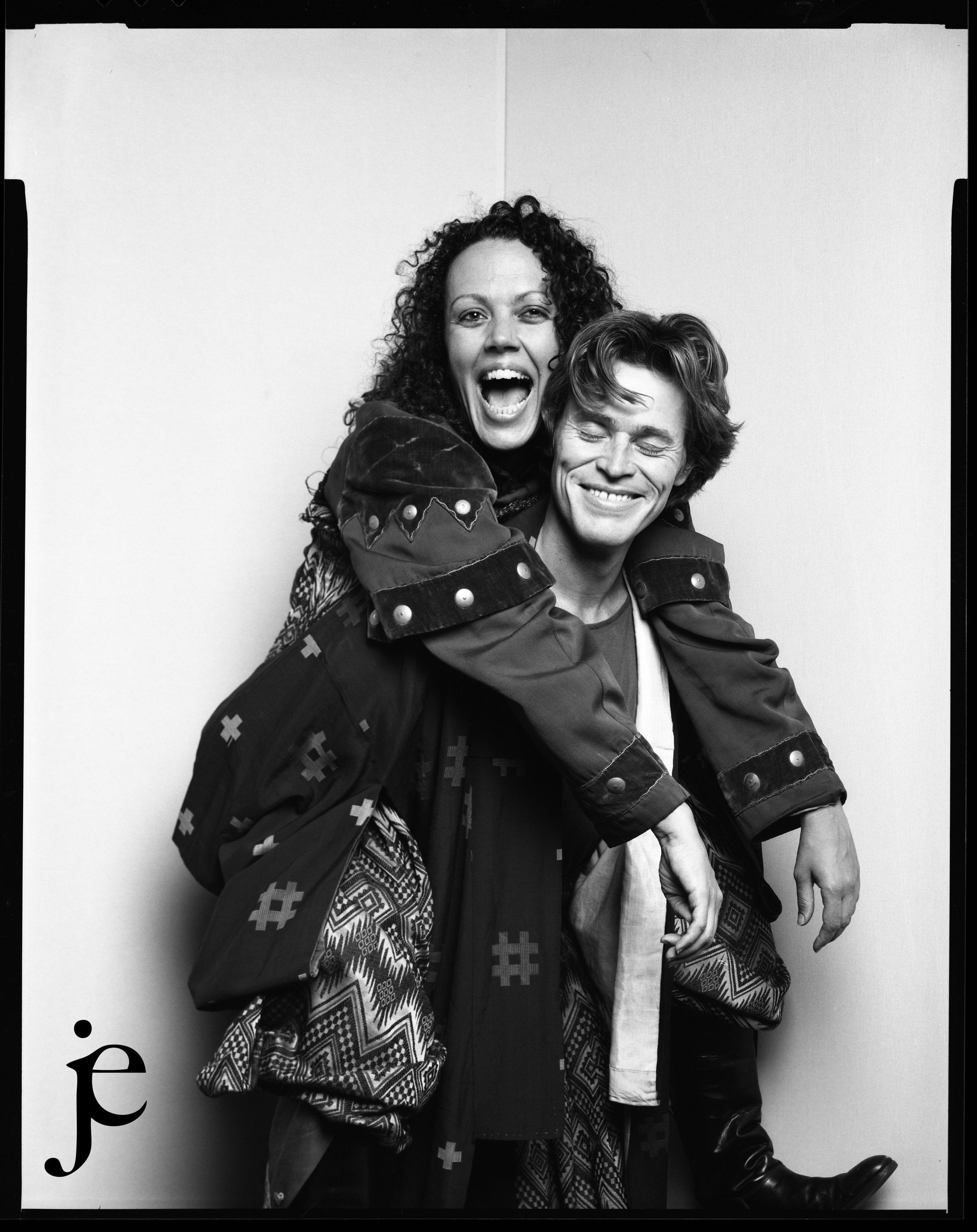 Willem Dafoe and Kate Valk. Soho, New York City 1993