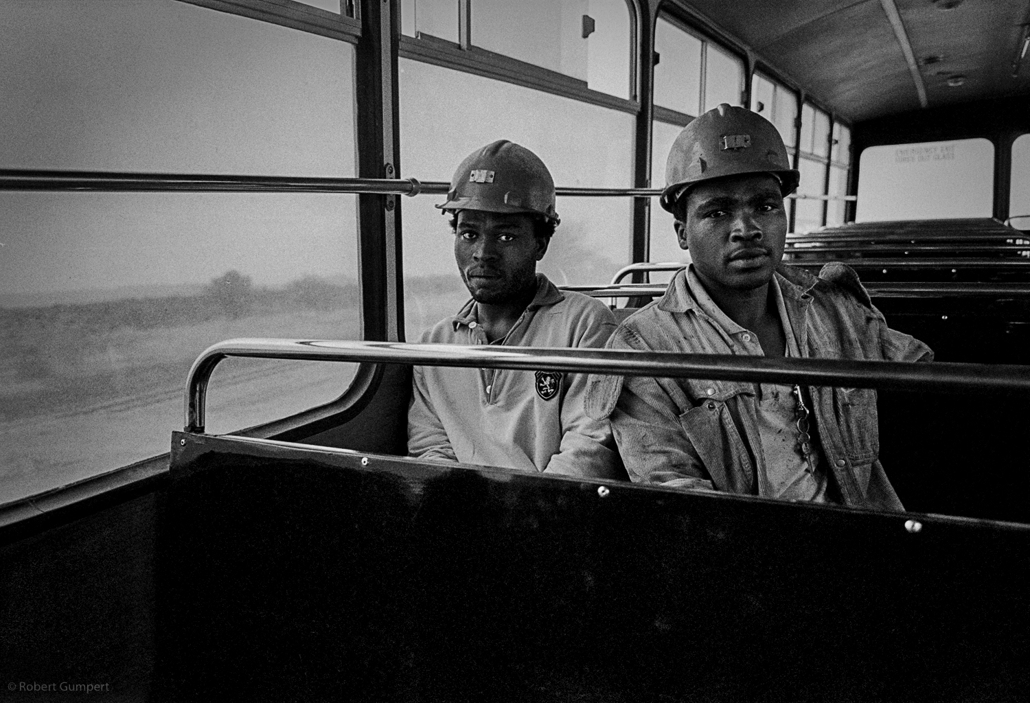 "1991: Miners on their way to work.  South Africa BOP, South Africa, the ""homeland"" Bophuthatswana Copyright Robert Gumpert"