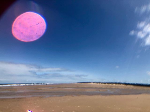 Pink Moon over Holkham Bay.