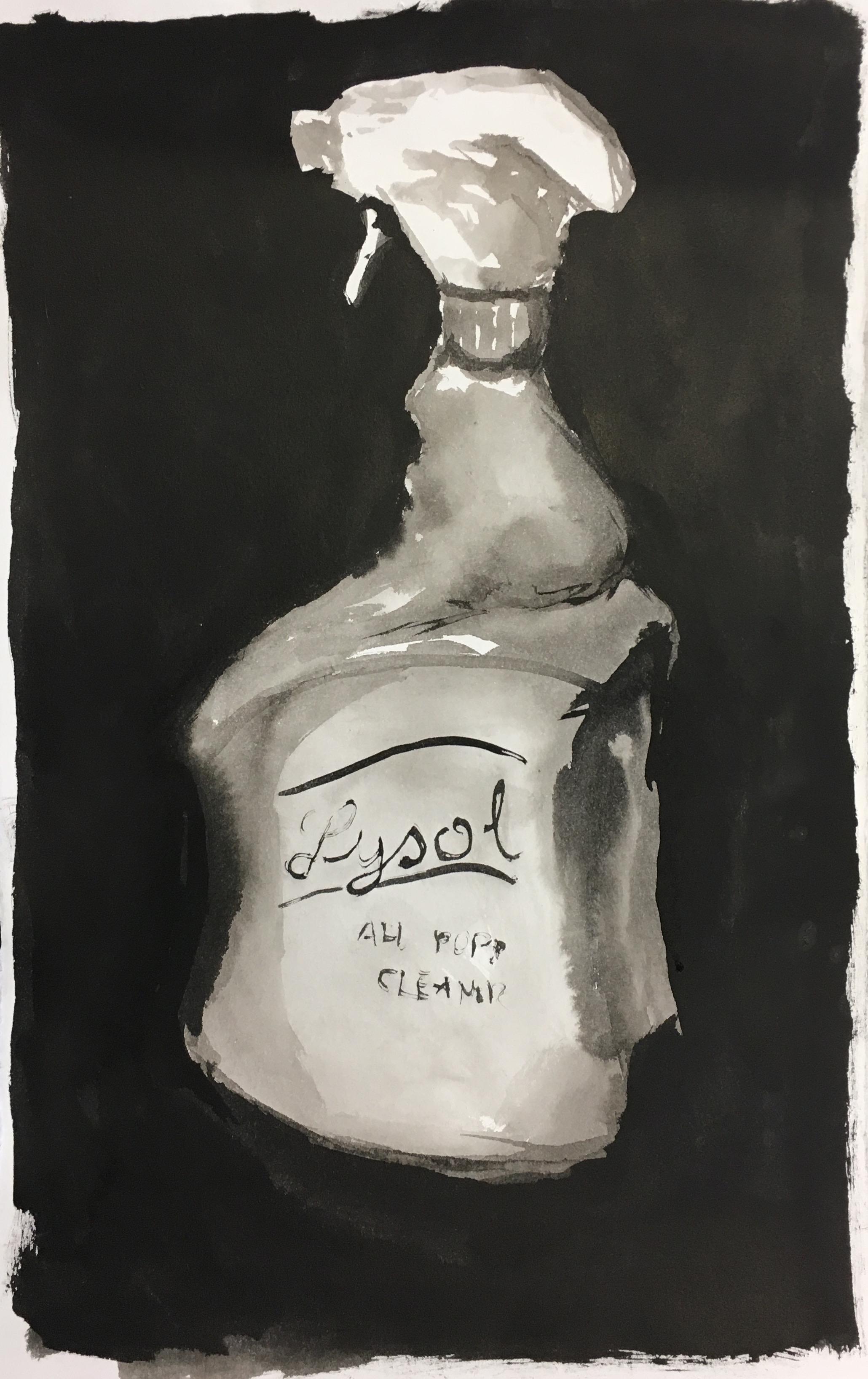 spray, 2017  sumi ink on paper