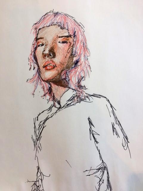 april, 2017  pen on paper