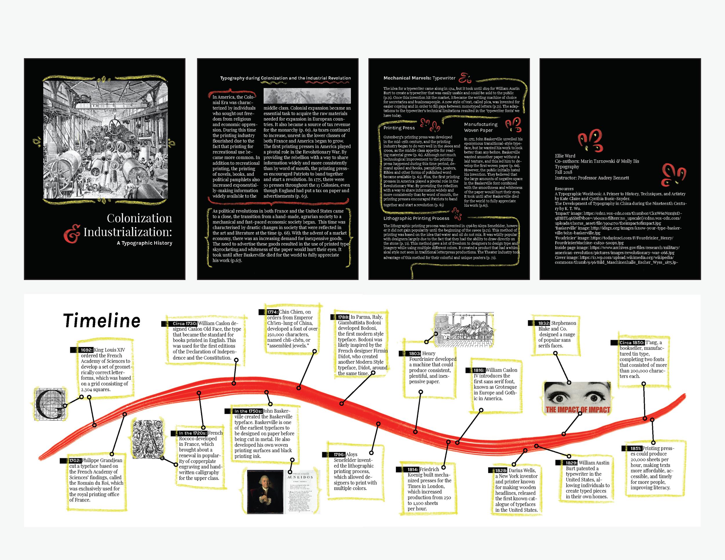 colonization & industrialization type brochure, 2018  digital media