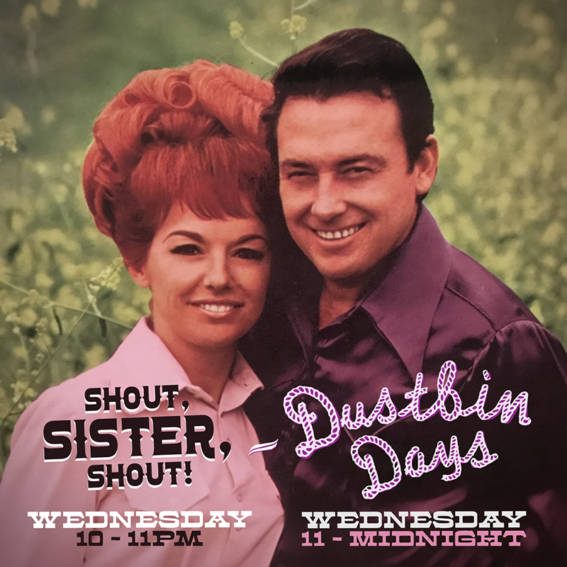 """Ladies and Gentlemen - Double-Duty Wednesday… a show of ladies while guest hosting """"Shout, Sister, Shout!"""" from 10-11pm, and a show of gents while hosting this show… Listen to SSS HEREListen to DBD HERE"""