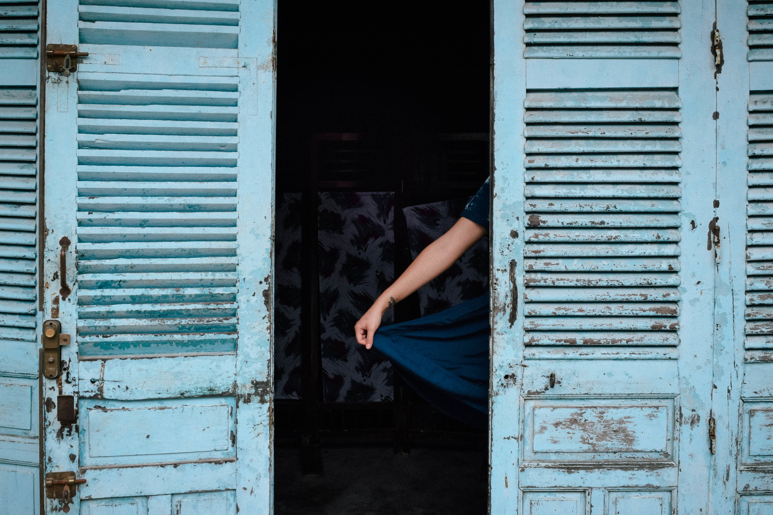 Blue dress in Hoi An