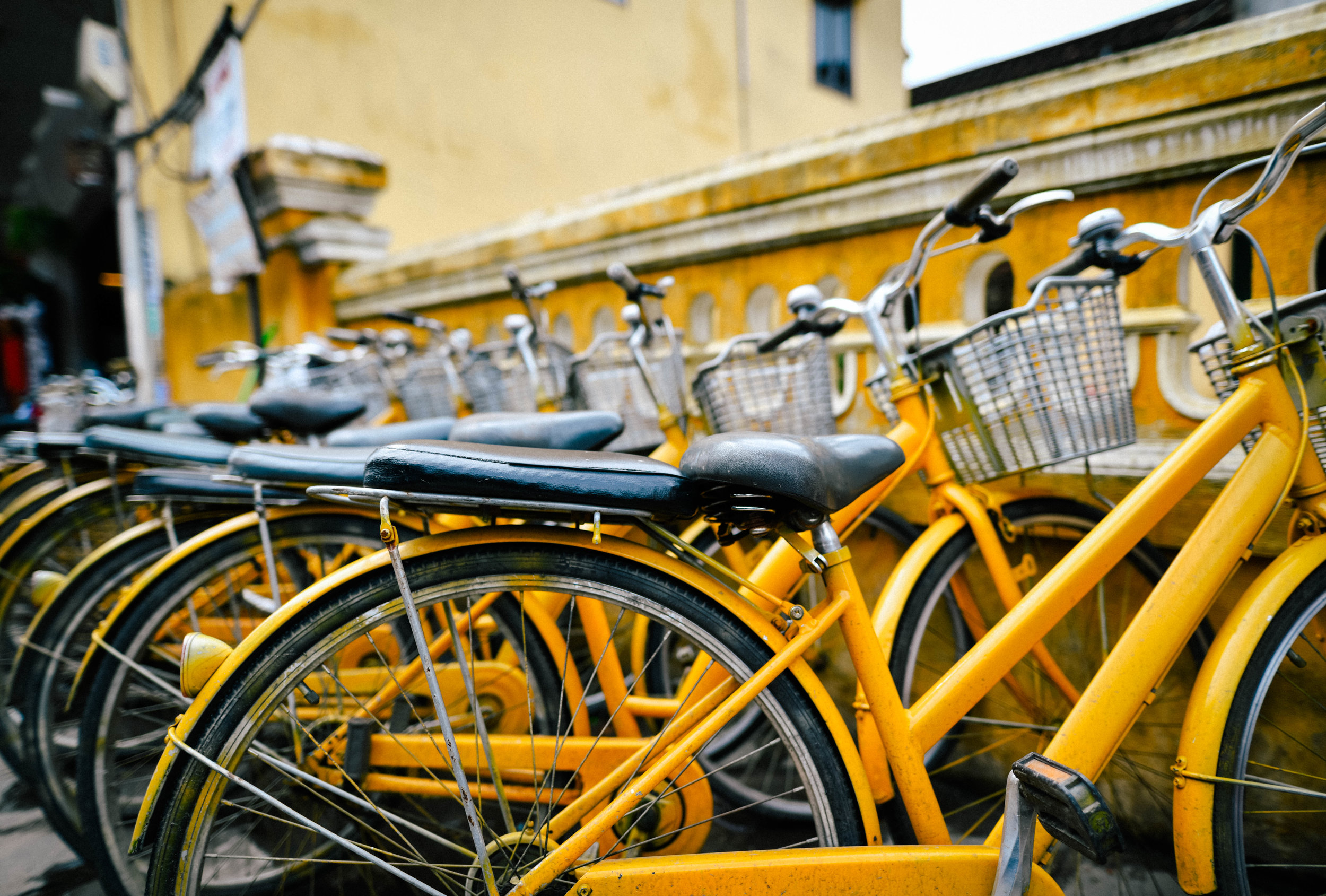 Yellow bikes in Hoi An