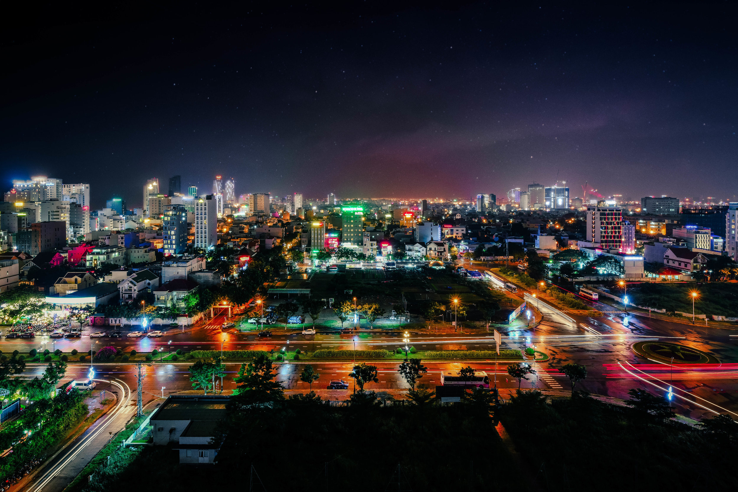 Da Nang cityscape at night