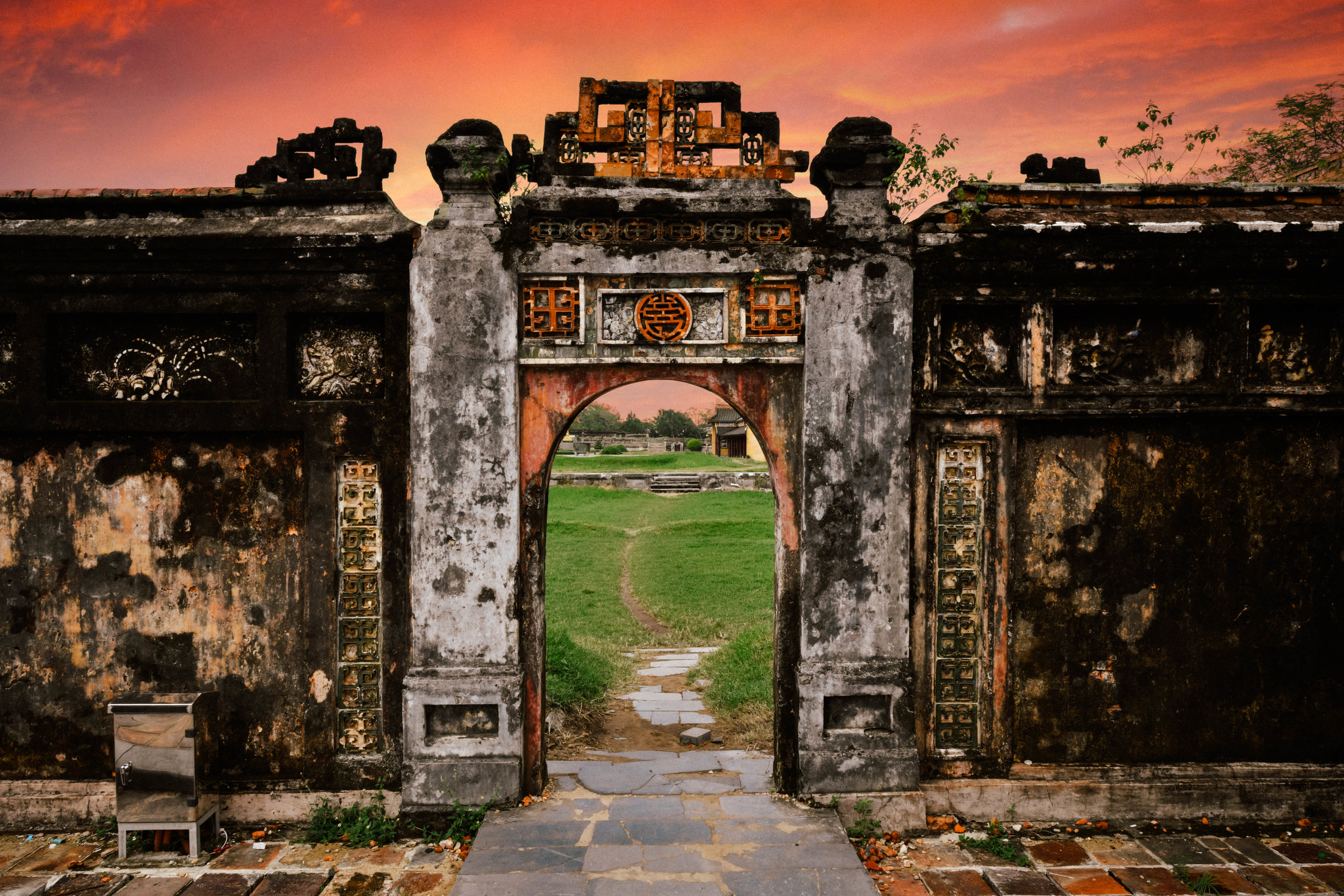 Gate in Imperial City of Hue