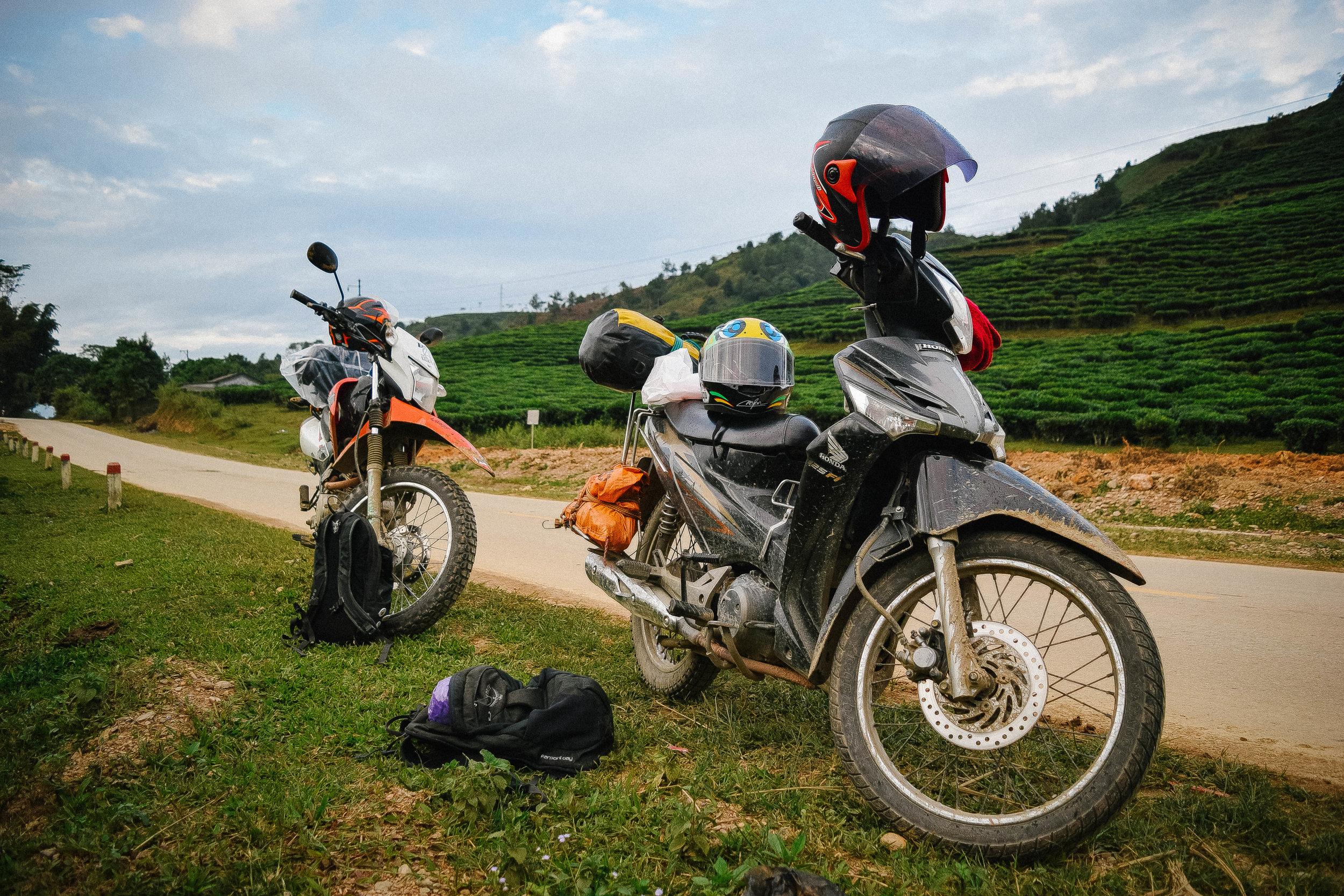 Motorcycles in Ha Giang